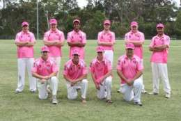 Castle Hill RSL Cricket Club Pink Stumps Shirt