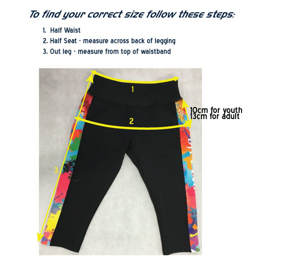 Leggings Measurement refs